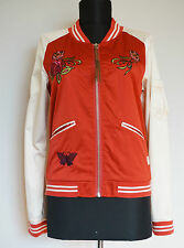 Odd Molly #584 Red  Bomber Jacket with Floral Embroidery, Size:1