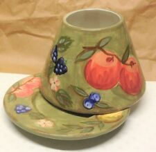 Yankee Candle FRUIT Large Jar Candle SHADE & PLATE Apples Pears Berry fits 22 oz
