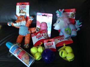 Kong Dog Toys Large Bundle. S/M Dog NEW 7 Items