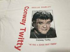 Vintage Conway Twitty T shirt 1980s Hello Darlin Country Music Rare 50/50