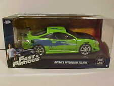 Fast & Furious BRIAN'S 1995 MITSUBISHI ECLIPSE Diecast Car 1:24 Jada 7in Green