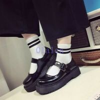 Women's High Heel Creeper Platform Pumps T-Strap Mary Jane Lolita Chic New Shoes