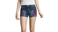 "Almost Famous 2"" Denim Shorts-Juniors Size 0, 5 Msrp $44.00 Dark Wash New"