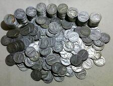 Lot of 50 Mercury Dimes 90% Silver! (Random Dates 1934-1945) - Free Shipping!