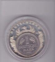 1 Mark Deutschland European Currencies Europa auf dem Stier Inlay Medaille medal