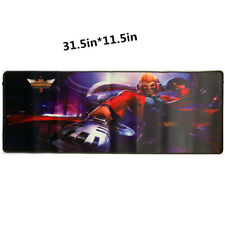RGB Gaming Mouse Pad for League of Legends,LED Soft Extra Extended Large Mouse Pad,Anti-Slip Rubber Base,Computer Keyboard Mouse Mat 31.5 X 12 Inch Jade Dragon Wukong