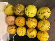 """12"""" Slowpitch Softballs .44 Cor Dozen Balls"""