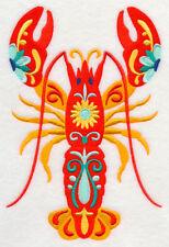 Embroidered Ladies Fleece Jacket - Flower Power Lobster M5092 Size S - Xxl