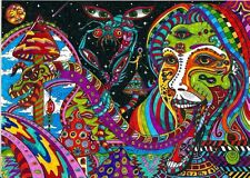 "Psychedelic Trippy Art Silk Cloth Poster 32 x 24"" Decor 52"