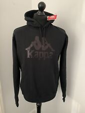 Mens Kappa Slim Fit Authentic Logo Brushback Fleece Overhead Hoodie Size Large