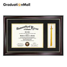 Graduation Diploma Frame for 8.5x11 Certificate Document Tassel Holder