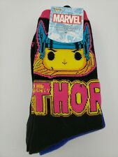 Marvel Black Light Funko Socks 3 Pack Thor, Iron Man, Spider Man, Limited Ed New