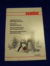 Original Solo Handbuch für den Motorsägenbenutzer- Rarität
