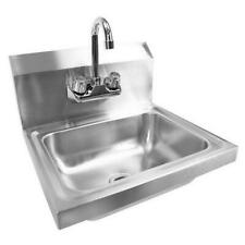 """17"""" Commercial Wall Mount Kitchen Hand Wash Sink Stainless Steel with Faucet"""