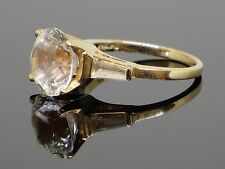 Vintage 3.8 CT Rock Crystal (Quartz) 14K Yellow Gold Ring, 4.8g, size 6.75