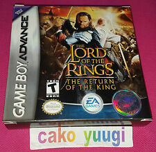 THE LORD OF THE RINGS THE RETURN OF THE KING GBA NINTENDO GAME BOY ADVANCE USA