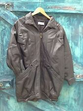 womens jacket size L black leather casual vintage 80s Carnaby St. London VG
