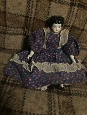 """Antique German Porcelain China Head Doll Hands & Boots Old Dress 13"""""""