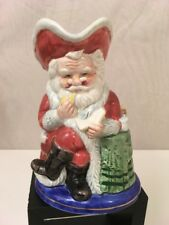 "Fitz and Floyd Santa Pitcher 1992 Coffee Creamer Christmas Holiday 16 oz EUC 7"""