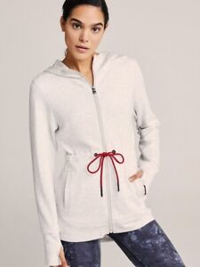 NWT Varley Colby Sweatshirt Hoodie Drawstring Grey Marl Medium Oversized $158