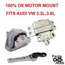 OE Motor Mounts Kit Set 3pcs Fits Audi A3,TT Quattro,VW EOS Passat 3.2 3.6 eng.