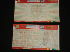 Wales v Finland World Cup Qualifier 2010 Football Ticket Stub