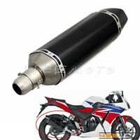Carbon Fiber Motorcycle Exhaust Muffler GP Silencer Pipes 38mm-51mm For Quad ATV