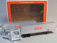 LIONEL WESTERN PACIFIC 40' TRAILER 2 PACK O GAUGE train freight semi 6-84887 NEW