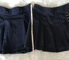Girls Size 10 Gap And Lee Brand Navy Uniform Skirts #700