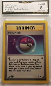 1st Edition Master Ball Trainer 2000 Gym Challenge #116/132 GMA 8