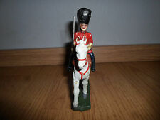 ELASTOLIN LINEOL british guard Officer on horse with sword WWII