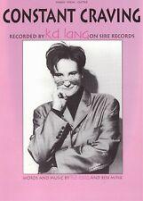 "1992 ""CONSTANT CRAVING"" k.d. Lang Grammy-Award Winner Photo Cover sheet music"