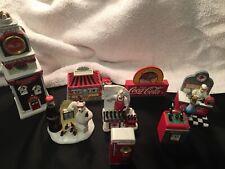 7 Coca Cola Mini Clocks & A night light sign 1998-2002 pre owned no boxes