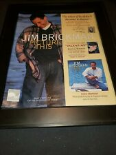 Jim Brickman Picture This Rare Original Promo Poster Ad Framed!