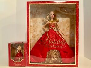 Holiday Barbie 2014 & the Matching Hallmark Barbie Ornament Barbie Collector NIB