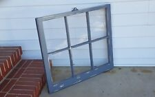 Architectural Salvage ~ 32x28 GRAY CHIPPY DISTRESSED RUSTIC WINDOW SASH FRAME