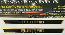 """YAMAHA """"ELECTRIC"""" SIDE PANEL DECALS X 2 RD125 RD200 TX500 TX750"""