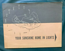 Your Sunshine Home In Lights 1950 Book Lighting Design Mid Century Fixtures CLM