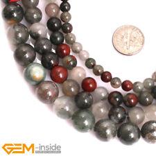 AAA Grade Natural Round Africa Bloodstone Gemstone Beads Jewellery Making 15''