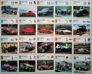 Cartoline foto automobili d'epoca antiche collezione
