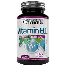 Vitamin B1 180 Tabletten je 100mg Thiamin Fat2Fit Nutrition