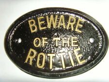 ROTTWEILER ROTTIE BEWARE of the HOUSE PLAQUE SIGN BUSINESS GARAGE KENNEL