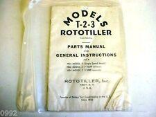 Rototiller Parts Manual 1954 T-2-3