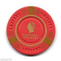 Las Vegas - Caesars Palace Casino - Poker Red Chip. NEW