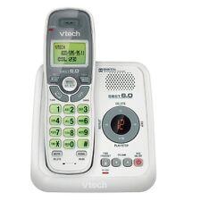 VTech CS6124 DECT 6.0 Cordless Phone White Grey 1 Handset Telephones Portable H