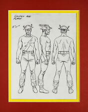 JAY GARRICK / GOLDEN AGE FLASH MODEL SHEET PRINT PROFESSIONALLY MATTED Alex Ross