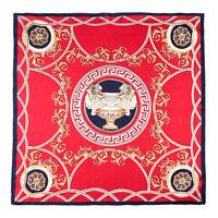 """20"""" Small Square 100% Silk Scarf Women neckerchief Shawl Wrap red blue S238-009"""