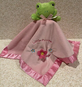 Burton Pink Frog Flower Dragonfly Little Princess Lovey Security Blanket