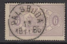 SWEDEN: 1876 OFFICIAL 6 ore lilac perf 14 SG O31c used