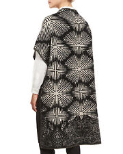 $1495 Etro NWT Diamond Ikat Paisley Open-Front Long Sweater Cardigan Vest Coat S
